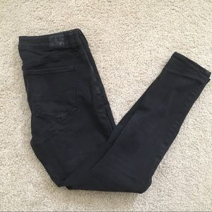 American Eagle black hi rise jegging super stretch